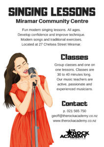 Singing Lessons Miramar Community Centre