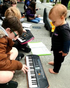 Young buskers inspire next generation of musicians