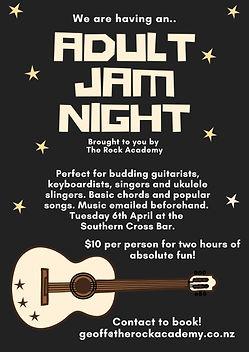 Adult jam night - Southern Cross Bar - W