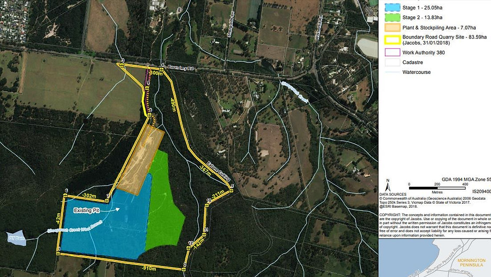 Proposed quarry Boundary Road Project