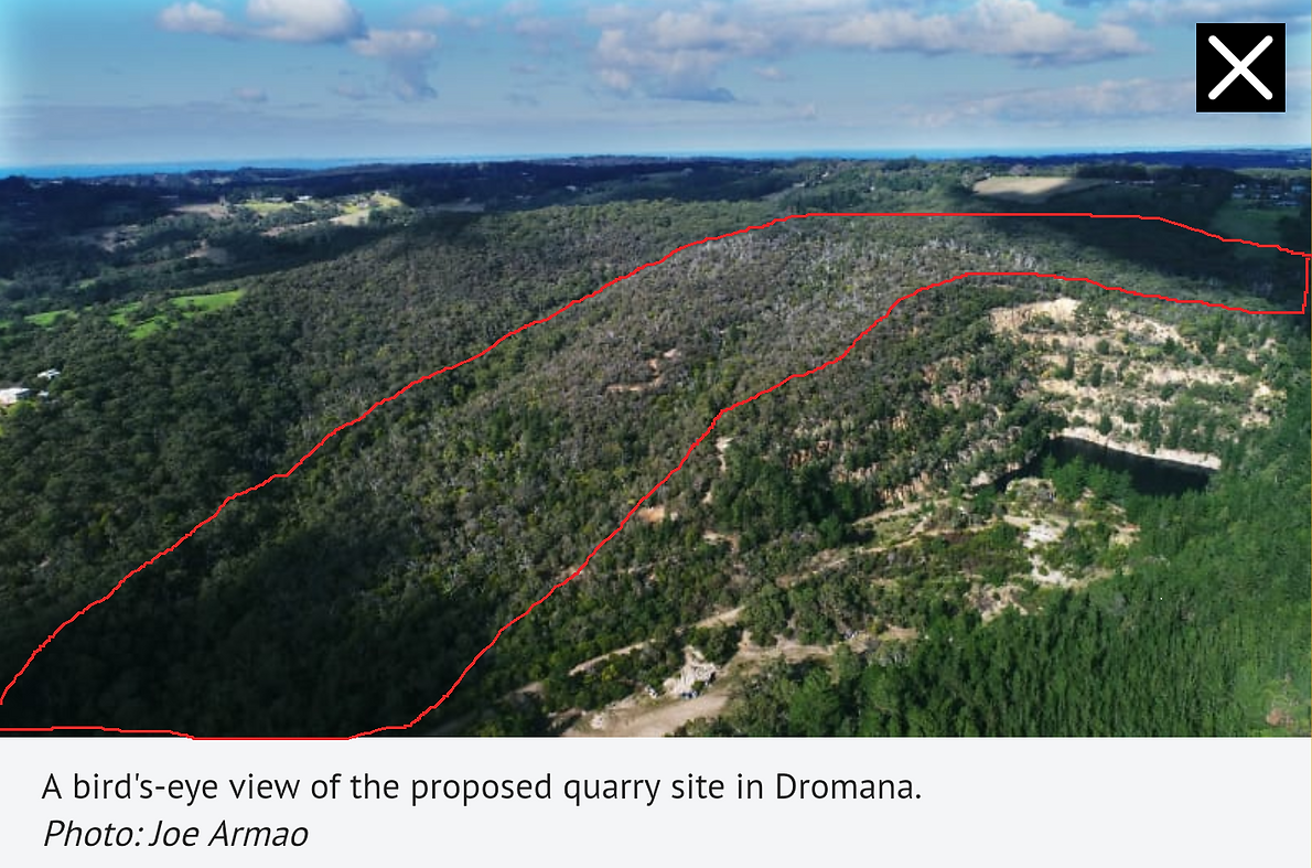 Proposed quarry Arthurs Seat