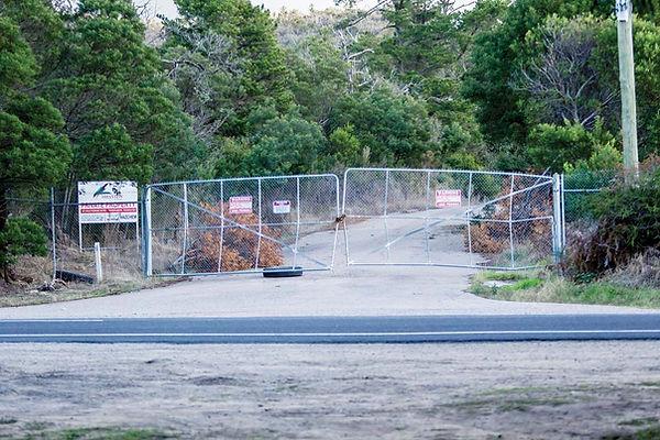 Quarry site, Boundary Road entrance