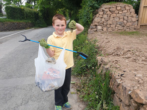 Pick up your rubbish, says seven year old boy from Lanson