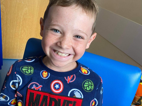 'My boy decided he was going to fight': Kaston shows bravery in the face of leukaemia