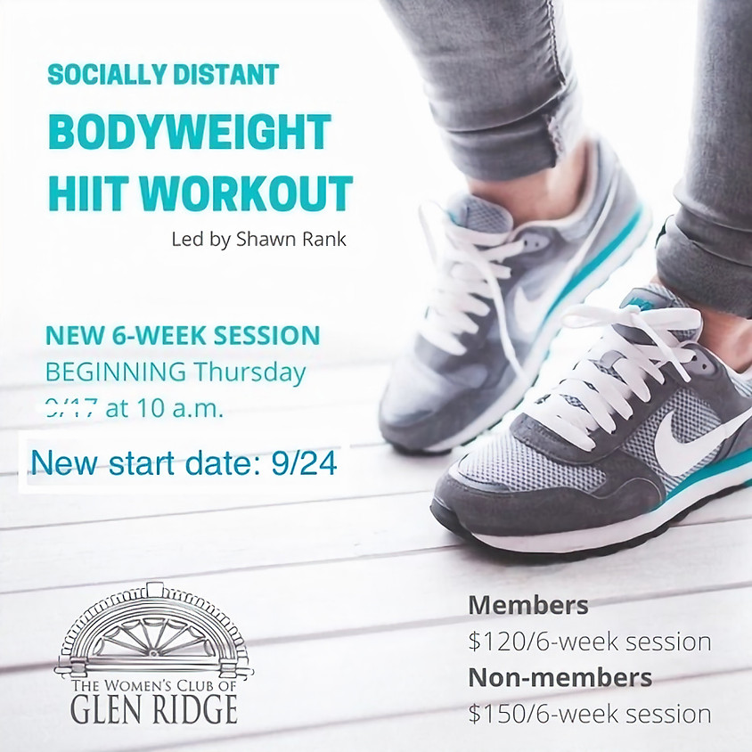 Socially Distant Bodyweight HIIT Workout