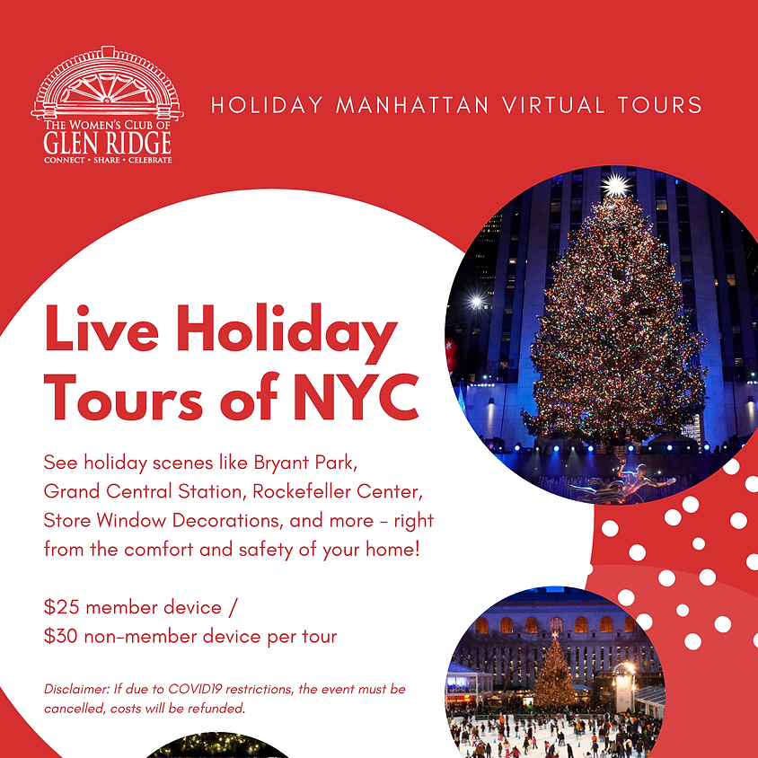 Live Holiday Tour of NYC