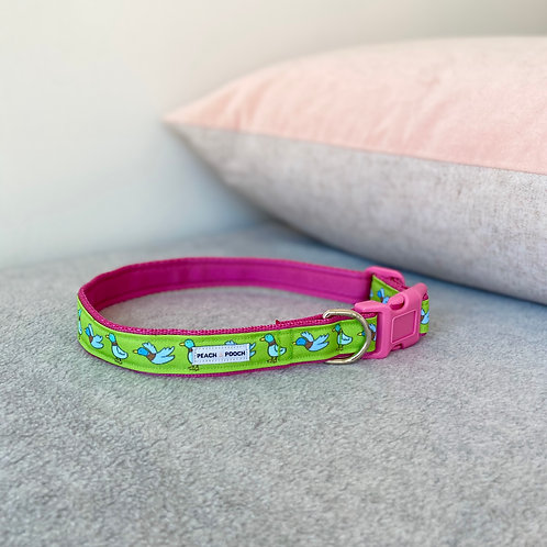 What's Up Duck Dog Collar (pink)