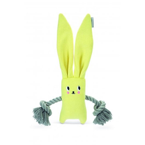 Beeztees Yellow Rabbit & Rope