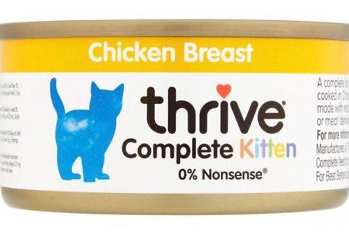 Thrive Kitten Food Chicken Breast 75g
