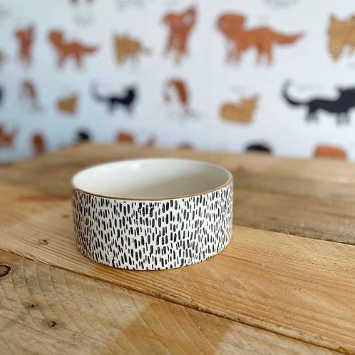Mason Cash Dalmatian Print Dog Bowl