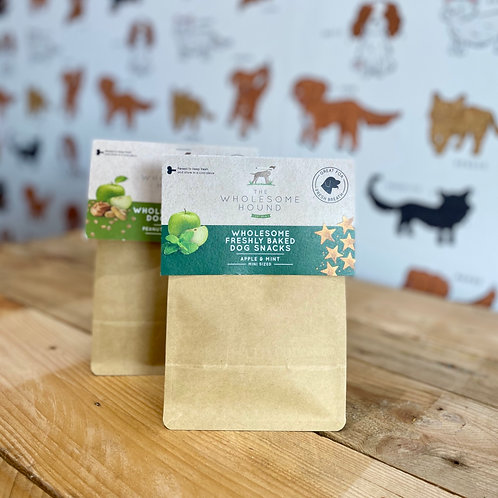The Wholesome Hound Apple & Mint Mini Treats