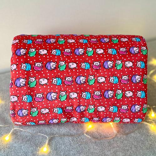 Pigs in Blankets Christmas Blanket
