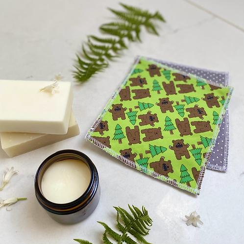 Bear in the Woods Reusable Wipes