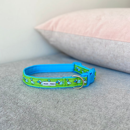 What's Up Duck Dog Collar (blue)