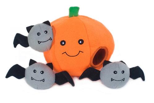 Zippypaws Halloween Burrow Pumpkin With Bats