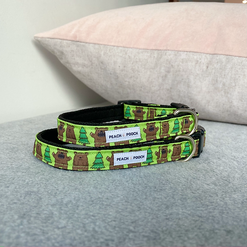 Bear in the Woods Dog Collar