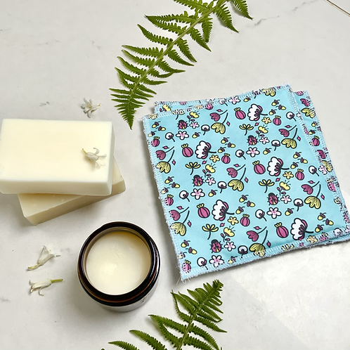 Floral Reusable Wipes