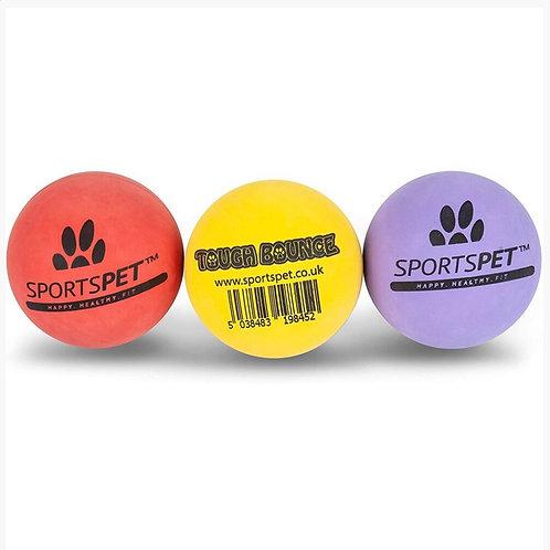 Sportspet Tough Bounce Rubber Balls