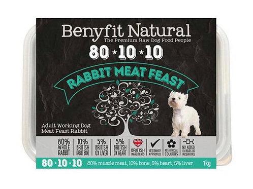 Benyfit Natural 80:10:10 Rabbit Meat Feast 1kg
