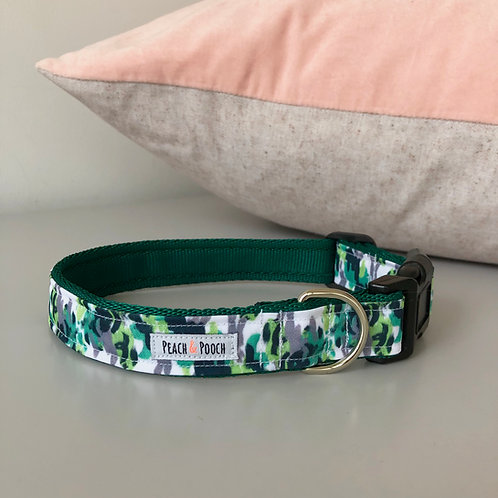 Abstract Green Dog Collar