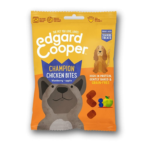 Edgard & Cooper Grain Free Bites with Chicken, Blueberry & Apple Bites