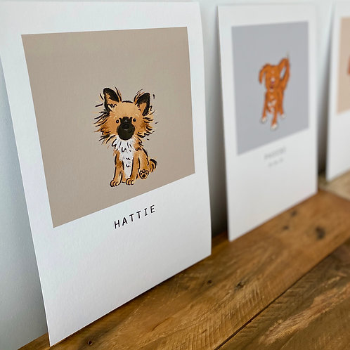 Personalised Pet Portrait (with borders)