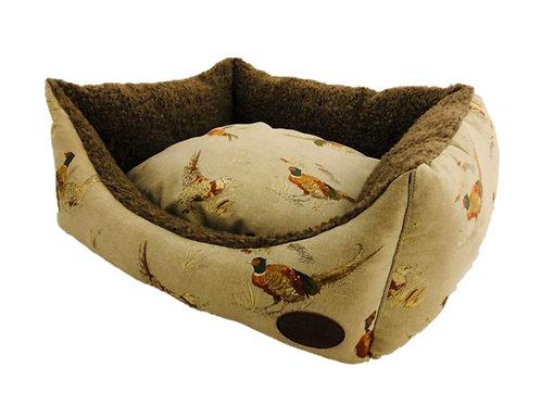 Snug & Cosy Pheasant Print Bed