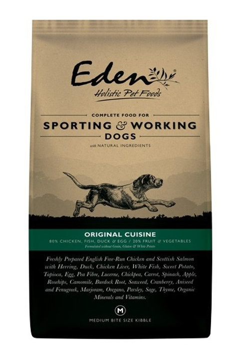 Eden 80/20 Original Working and Sporting Dog Food 15kg Medium Kibble
