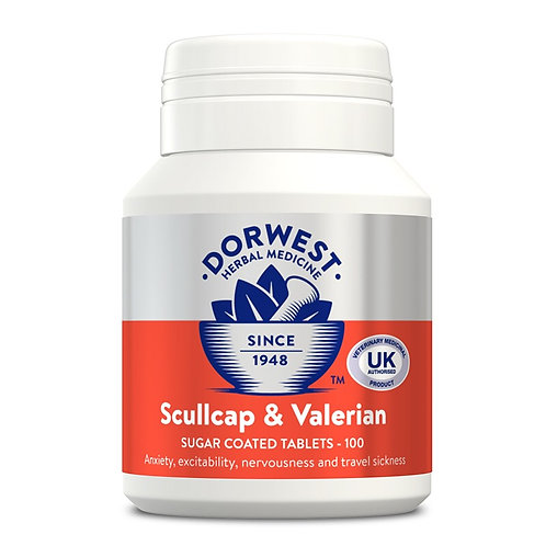 Scullcap & Valerian Tablets For Cats & Dogs