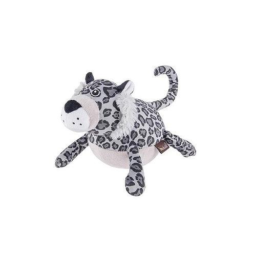 Snow Leopard Plush Dog Toy