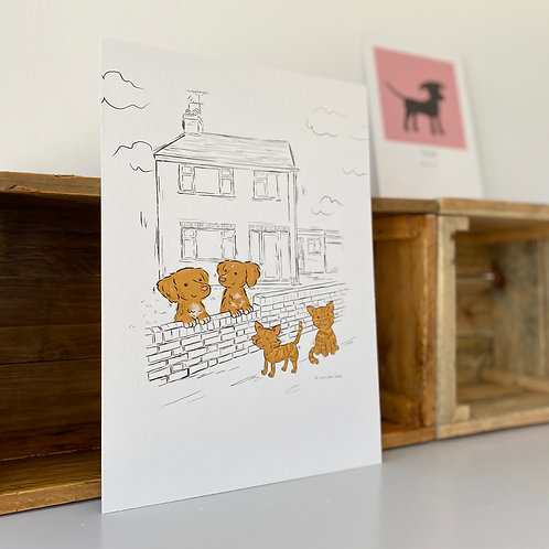 Personalised Home and Pet Portrait