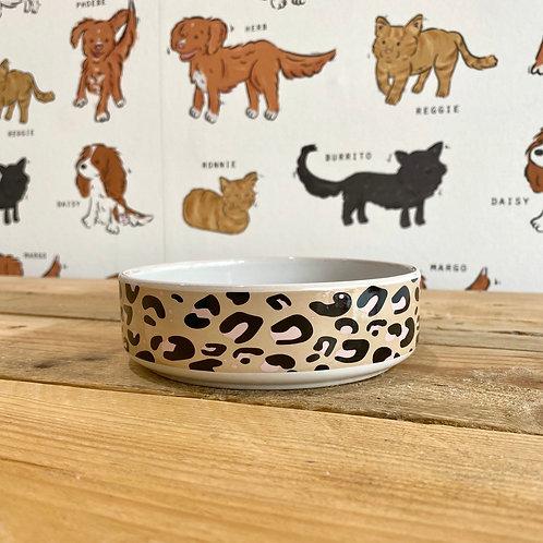 Mason Cash Leopard Print Cat Bowl