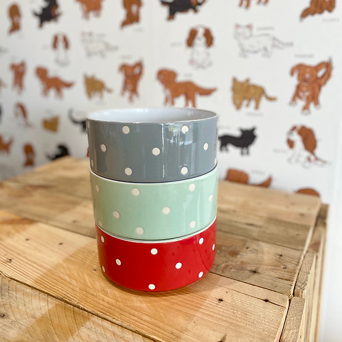 Mason Cash Large Spotty Dog Bowl