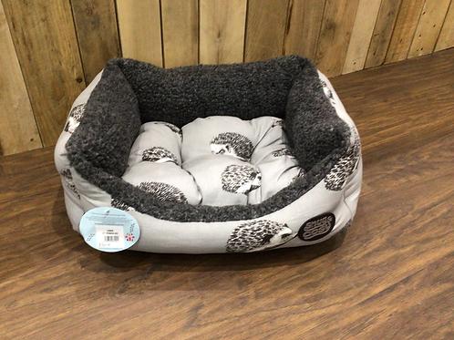 Snug & Cosy Hedgehog Print Bed
