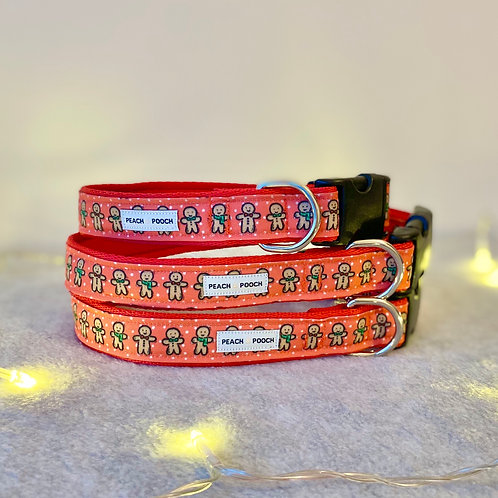 Gingerbread Men Dog Collar