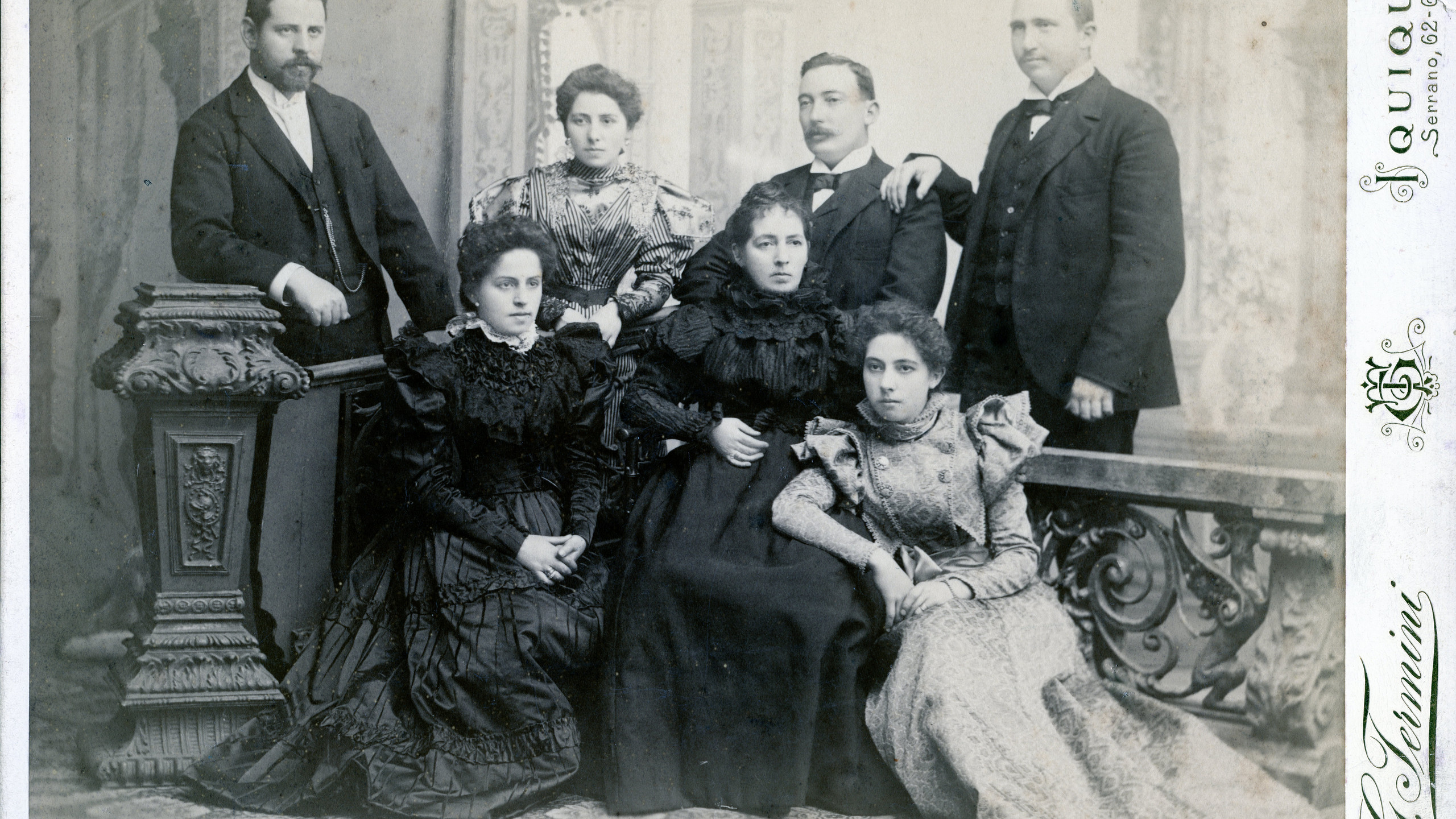 A photograph from 1897 showing the Jeffery, Sampaio and Bruna families together. Augusto Bruna was married to Rosario Sampaio, America Sampaio is next to her husband George Jeffery and next to him his brother Frank. Abuelita Rosa in the centre is Rosa Sampaio Vega widow of Governor Francisco Sampaio and another daughter Delia Sampaio. The relationship between the Bruna family and the Jeffery family goes back a very long way.