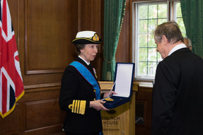 Princess Royal & Chilean Navy pay homage to Lord Cochrane at Westminster Abbey for Chilean Navy Day