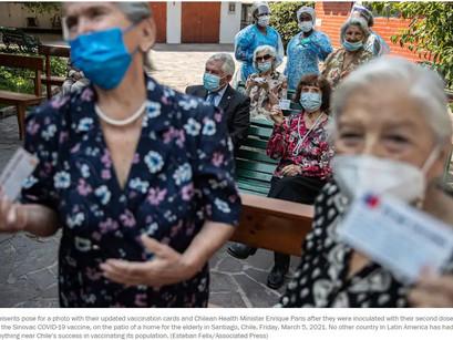 Chile becomes Latin America's COVID-19 vaccination champion