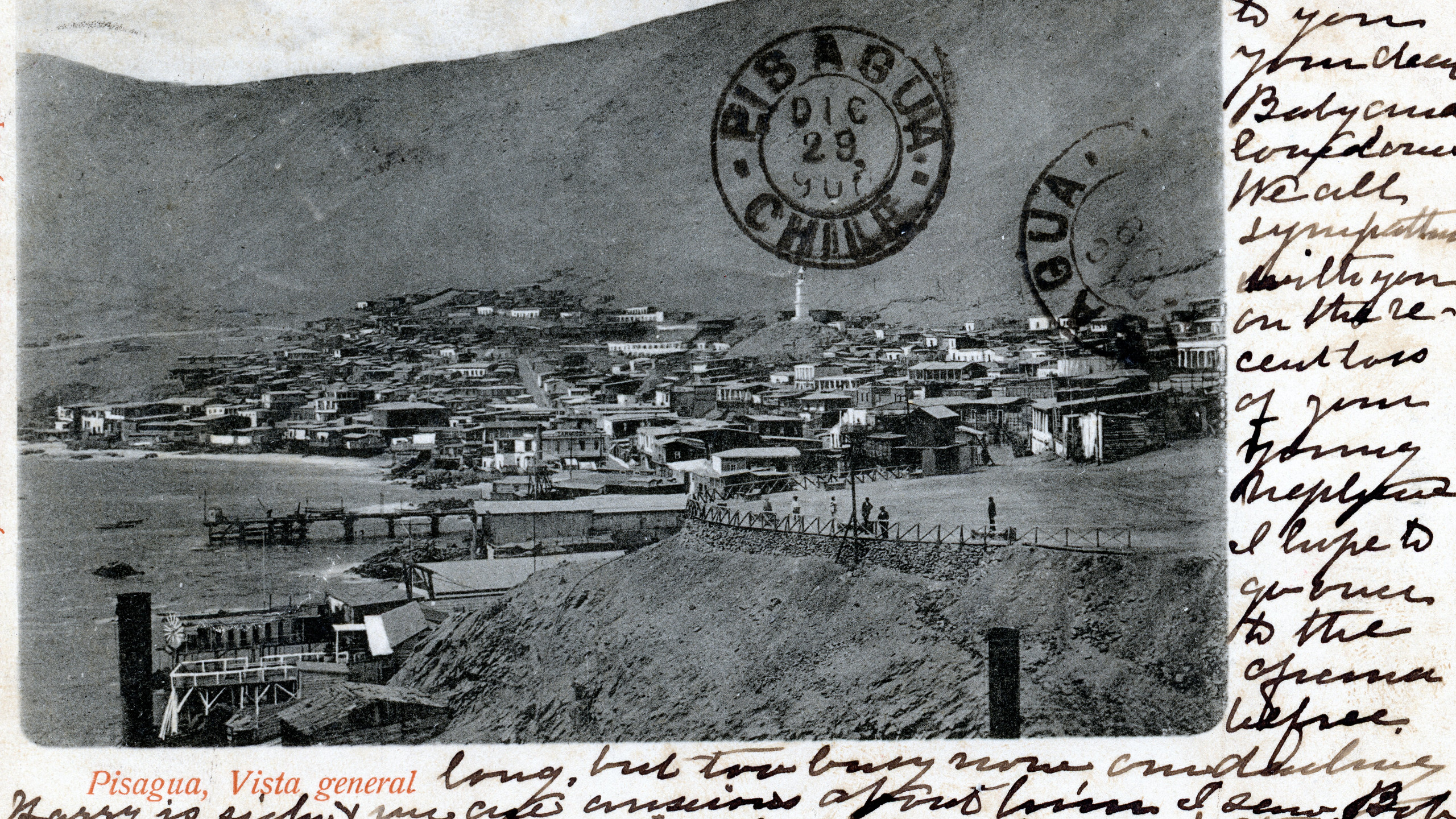 Postcard from 1900 of Pisagua