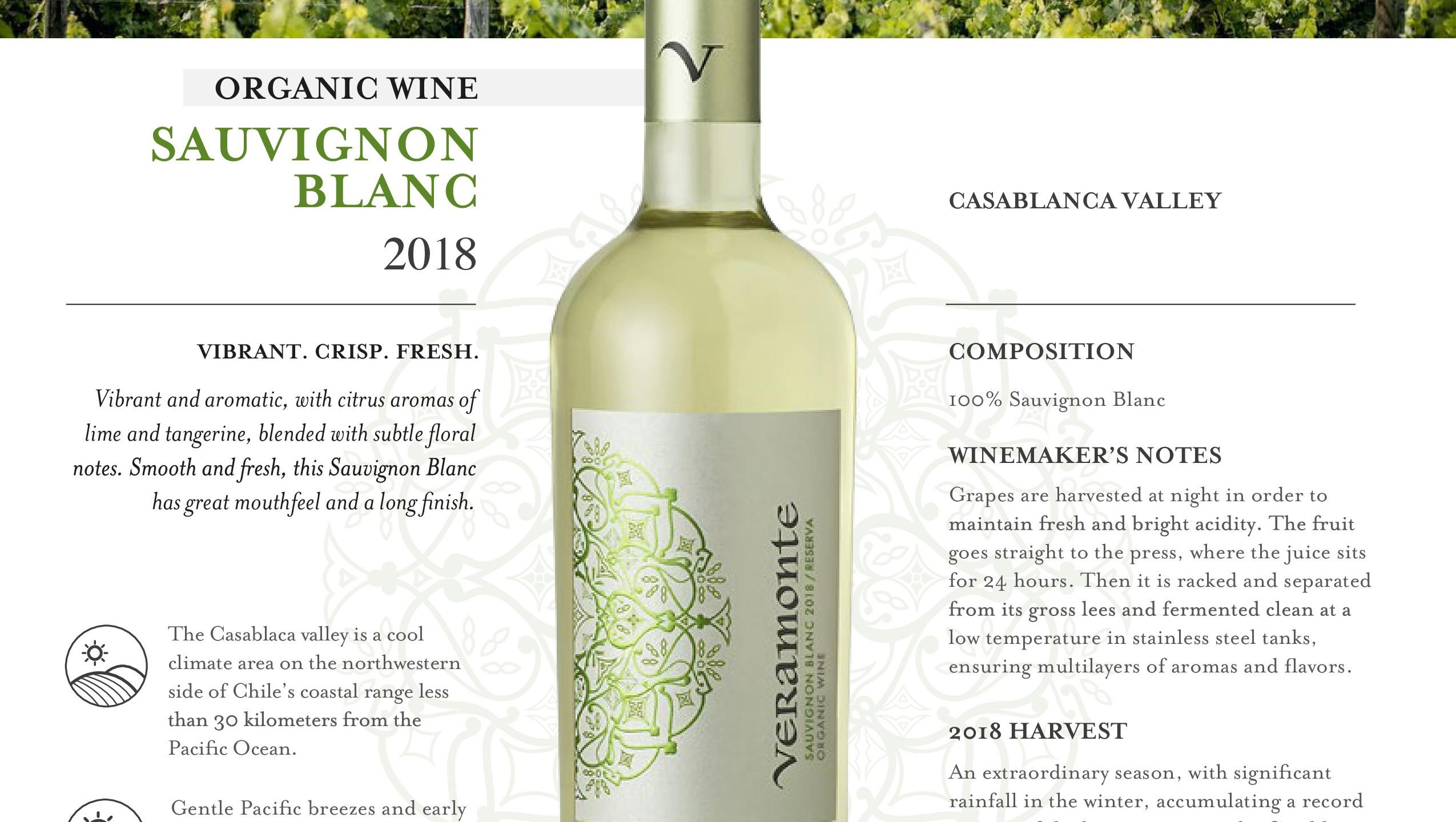 Veramonte Sauvignon Blanc ORGANIC 2018