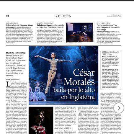 Chilean dancer Cesar Morales wins National Dance Awards Critic's Circle