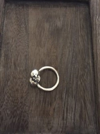 Men's Sterling Sliver Skulls Ring