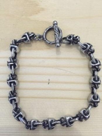Men's Sterling Sliver Skulls Bracelet