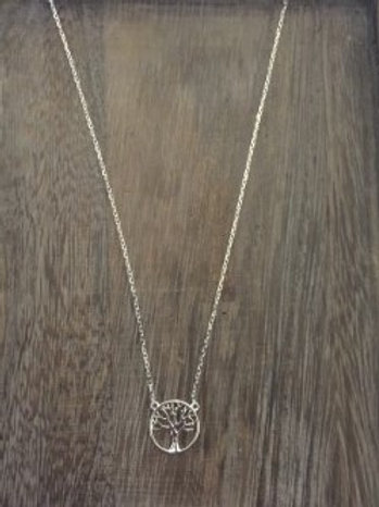 Women's Family Tree Sliver Necklace