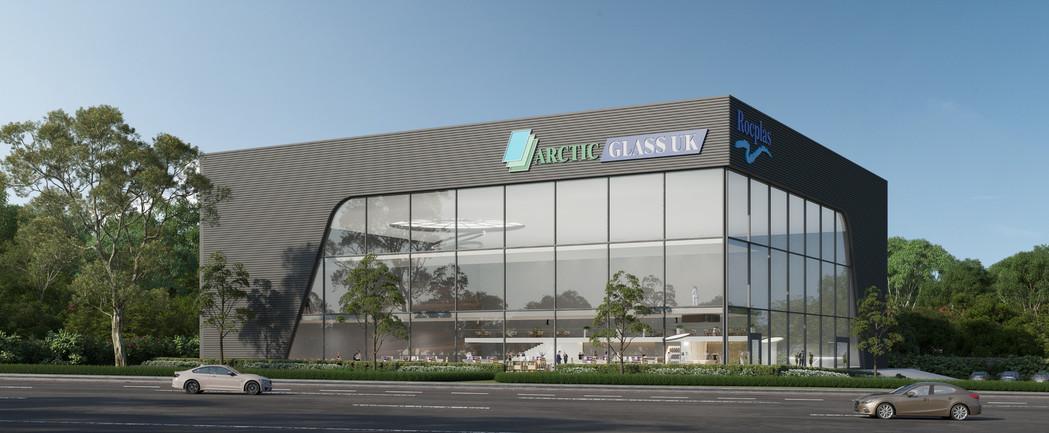 Rocplas warehouse 3D rendering CGI