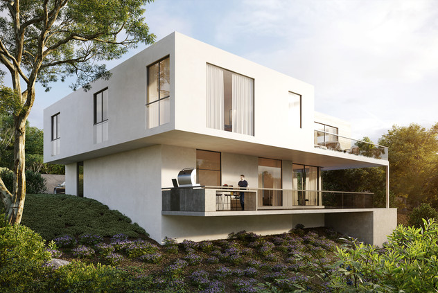Hollywood custom built house by Ognayan design view 3
