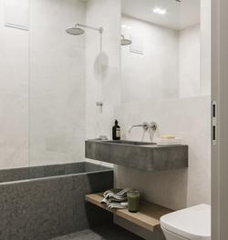 Student studio flat bathroom visualisation