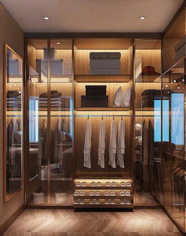 Walk in closet visualisation for London development