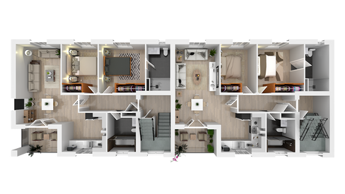3D floor plan visualisation for property brochure