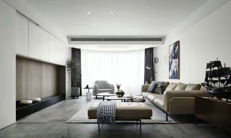 Lounge design with modern furniture